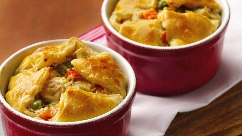 Alfredo Chicken Pot Puff Pies