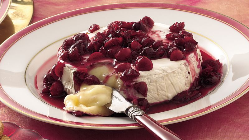 Camembert Crowned with Cranberry-Port Sauce