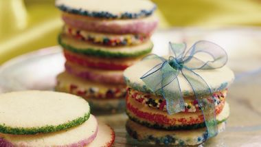 Icebox Christmas Cookie Rounds