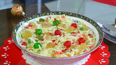 Coleslaw and Fruit Salad