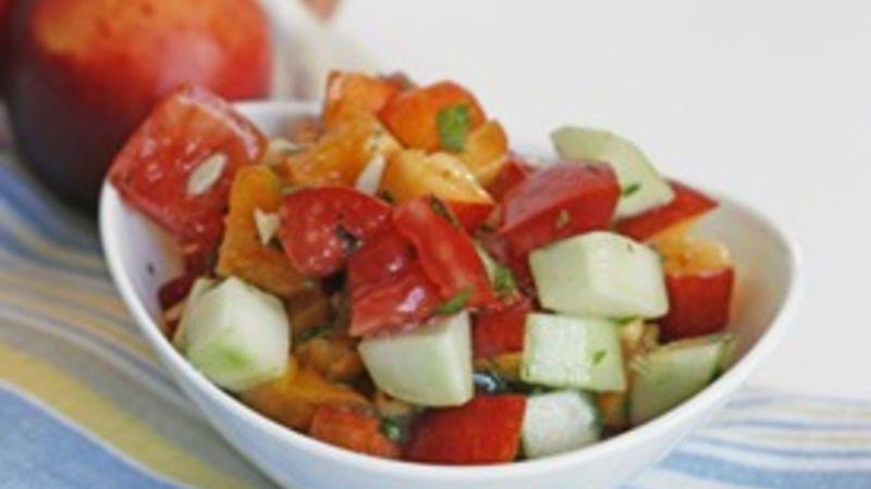 Heirloom Tomato and Nectarine Salad
