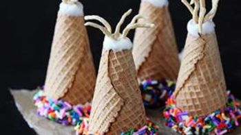 Ice Cream Cone Teepees