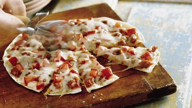 Barbecued Chicken Tortilla Pizzas