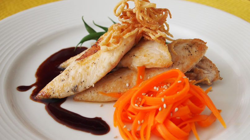 Chicken Breast with Hoisin Sauce and Honey