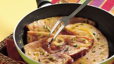 Sweet and Sour Ham Steak