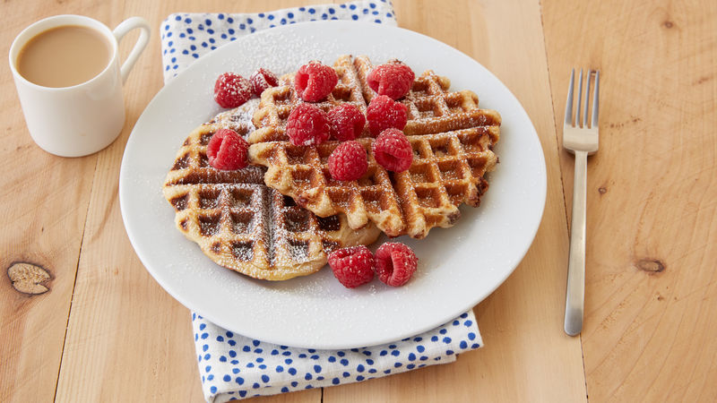 3-Ingredient Nutella™ Raspberry-Stuffed Waffles