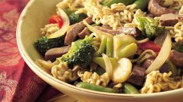 Beef and Ramen Noodle Bowls