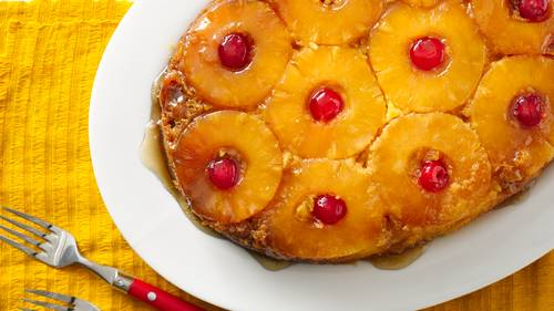 Slow-Cooker Pineapple Upside Down Cake