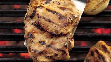 Apricot Glazed Grilled BBQ Chicken Thighs