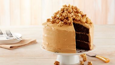 Caramel Corn Chocolate Cake