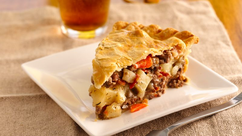 Rustic Meat and Potato Pie