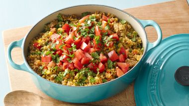 One-Pot Quinoa with Spicy Sausage