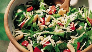 Warm Bean and Spinach Salad