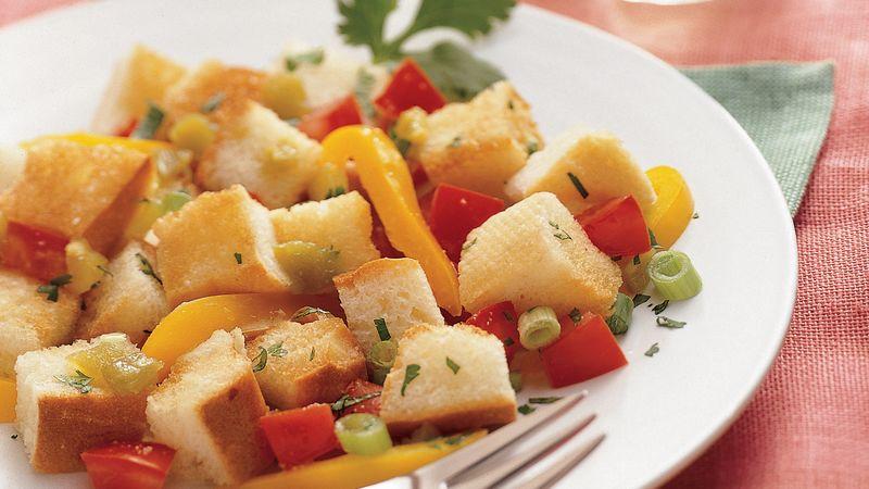 Green Chile Panzanella Salad