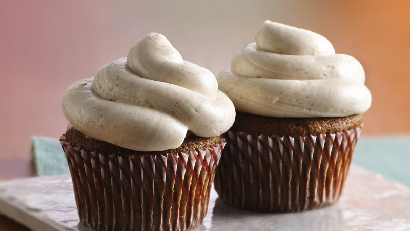Ginger-Molasses Cupcakes Recipe — Dishmaps