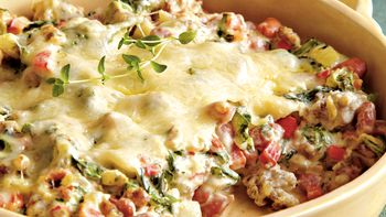 Sausage, Bean and Spinach Dip