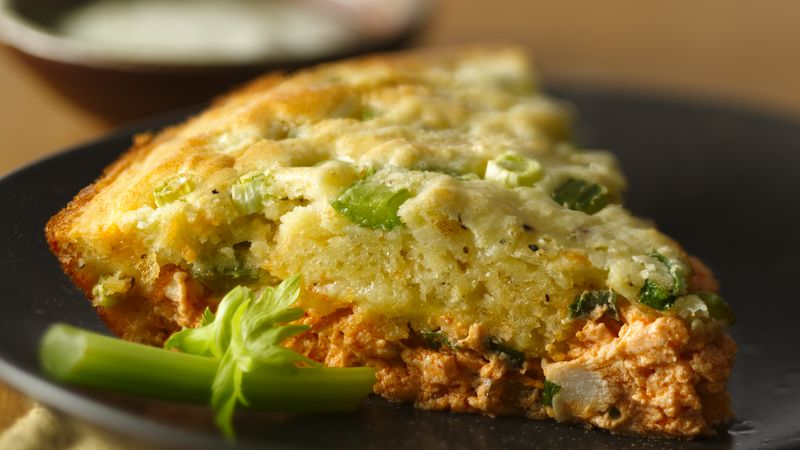 Impossibly Easy Buffalo Chicken Pie recipe from Betty Crocker