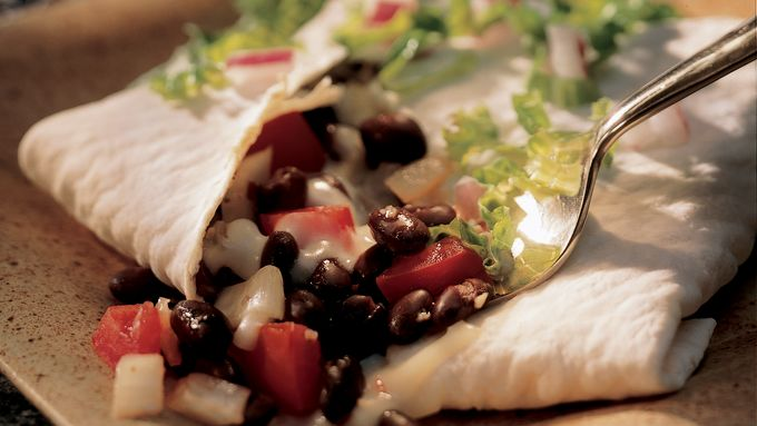 New Mexican Black Bean Burritos