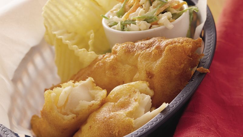 Beer battered fish recipe from betty crocker for How to make batter for fish
