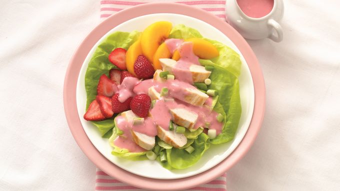 Strawberry-Peach Chicken Salad