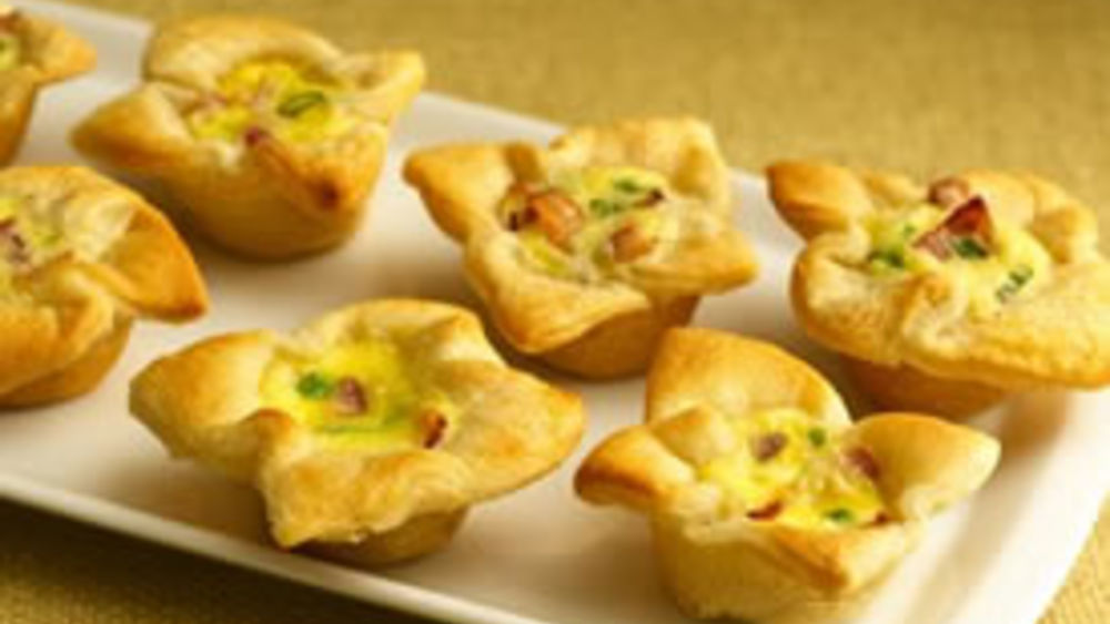 Crescent Bacon-Cheese Tartlets