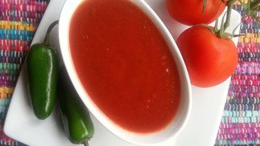 Salsa de Jalapeño para las Enchiladas