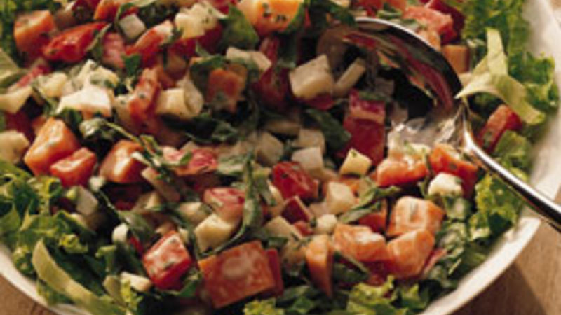 Sunchoke and Spinach Salad