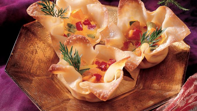 Curried Sweet Potato Wontons