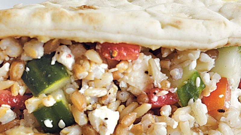 Mediterranean Flatbread Sandwiches