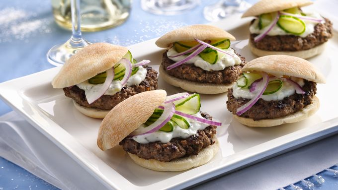 Mini Greek Burgers