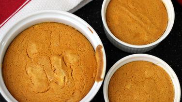 Soufflé de Calabaza y Queso Crema