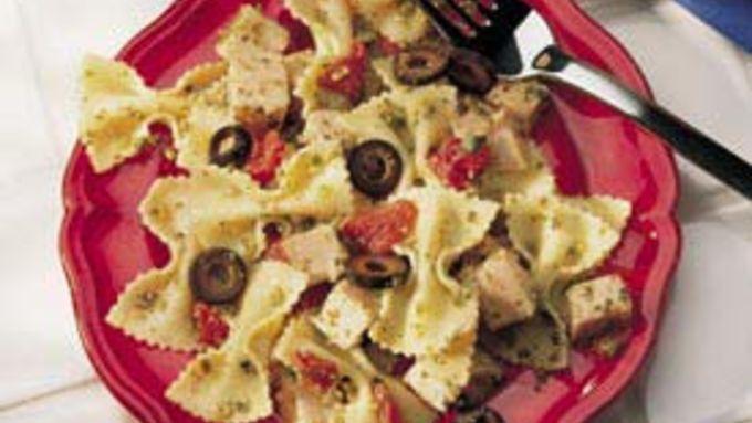 Pesto Turkey and Pasta
