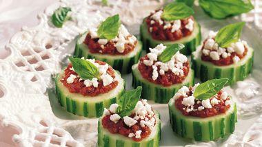 Gluten-Free Cucumber Slices Provençal