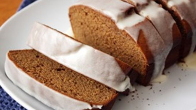 Banana Gingerbread with Icing