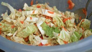 Asian Napa Cabbage Slaw with Peanut Sauce