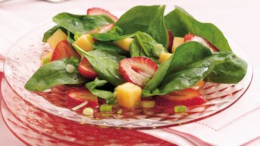 Strawberry-Melon-Spinach Salad