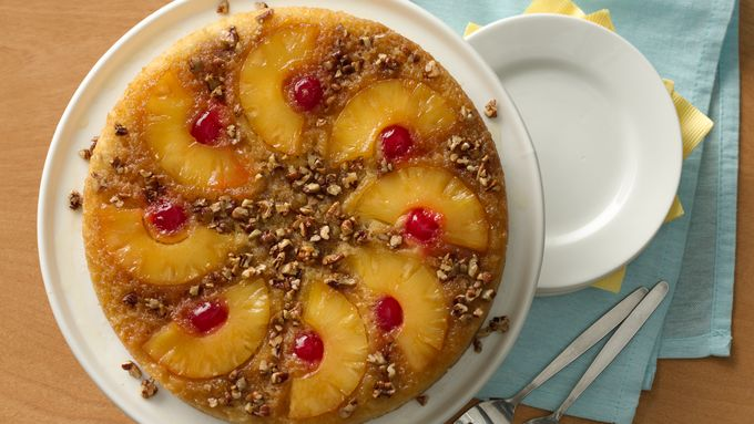 Quick Pineapple Upside-Down Cake