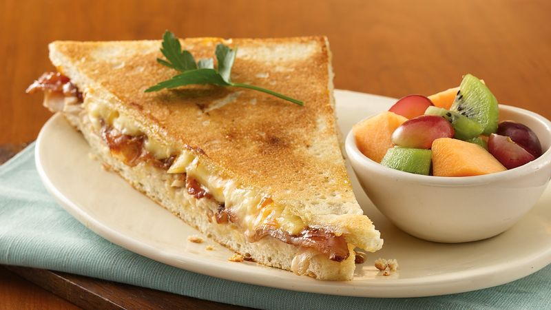 Turkey, Bacon and Brie Panini with Apricot Aioli