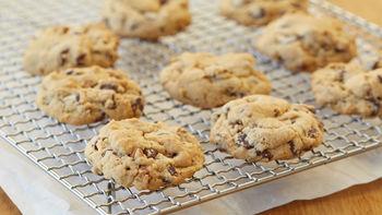 Vegan Chocolate Chip Cookies with Pecans