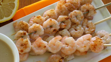 Shrimp Kabobs in Tamarind Sauce