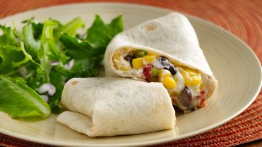 Easy Corn and Black Bean Wraps