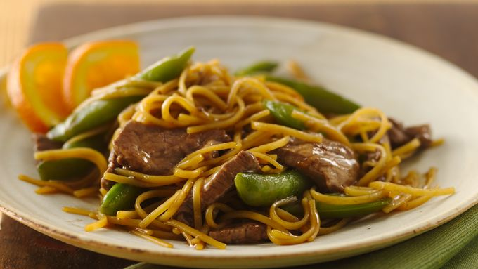 Orange Teriyaki Beef with Noodles