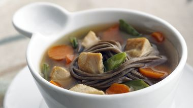 Skinny Ginger Chicken Noodle Soup