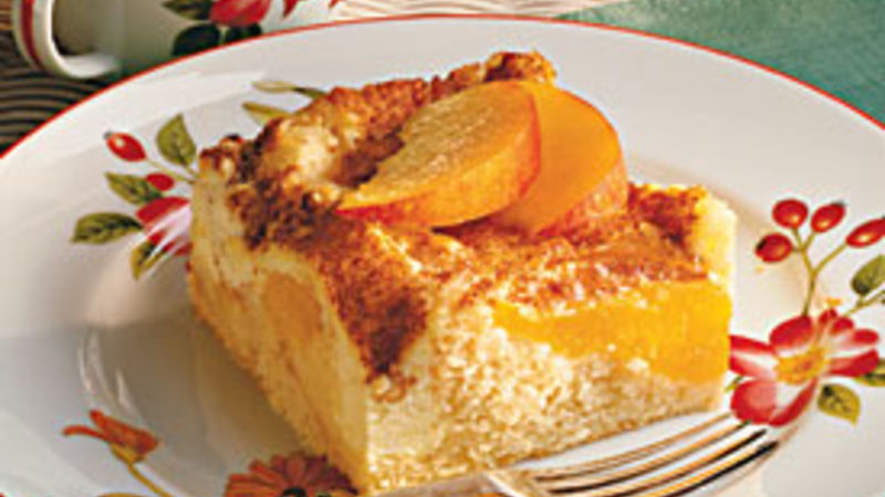Sour Cream-Peach Coffee Cake