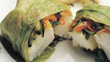 Fish Baked in Lettuce Pockets