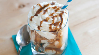 Stout-Caramel Ice Cream Sundaes