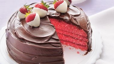 Chocolate-Covered Strawberry Cake