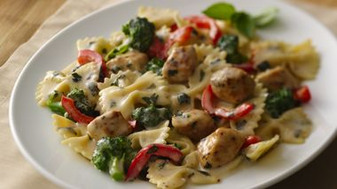 Chicken and Pasta with Creamy Basil Sauce