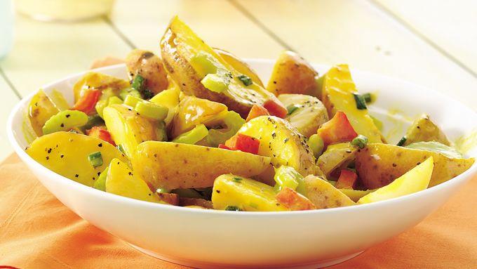 Warm Honey-Mustard Potato Salad