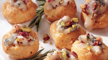 Gorgonzola and Rosemary Cream Puffs